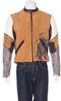 Gianfranco Ferre Distressed Leather Moto Jacket