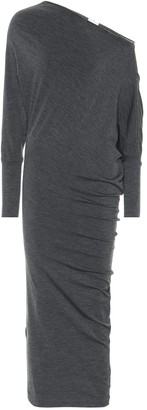 Brunello Cucinelli Embellished wool dress