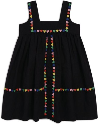 Stella McCartney Embroidered Hearts Dress