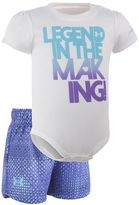 """Under Armour Baby Girl Legend In The Making"""" Graphic Bodysuit & Striped Shorts Set"""