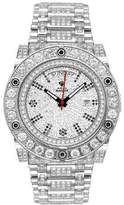 Magnum Aqua Master Men'S Automatic Diamond Watch With Skeleton Back, 22.00 Ctw