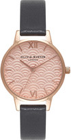 Olivia Burton OB15MD59 Scalloped Midi Dial rose gold and leather watch