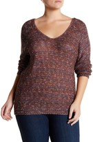 14th & Union Double V-Neck Sweater (Plus)
