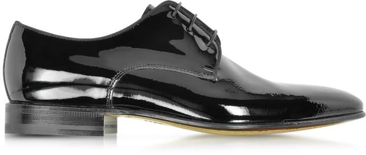 Moreschi Linz Black Patent Leather Lace Up Shoe w/Rubber Sole