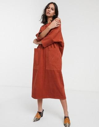 L.F. Markey Pat cold shoulder midi dress