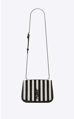 Saint Laurent Spontini Small Satchel In Ponyskin-Look Leather With A Striped Print