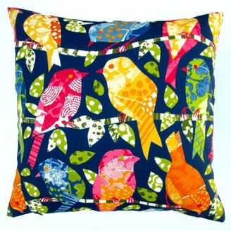 Artisan Pillows Kids Colorful Birds Modern Contemporary Indoor/Outdoor Pillow Cover