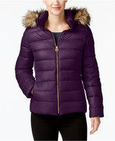 MICHAEL Michael Kors Faux-Fur-Trim Packable Down Coat, Created for Macy's