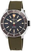 Alpina Men's Seastrong Diver 300 44mm Rubber Band Automatic Watch AL-525LGG4V6