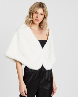 Unreal Fur Women's White Capes - Cuddles Wrap - Size One Size, One size at The Iconic
