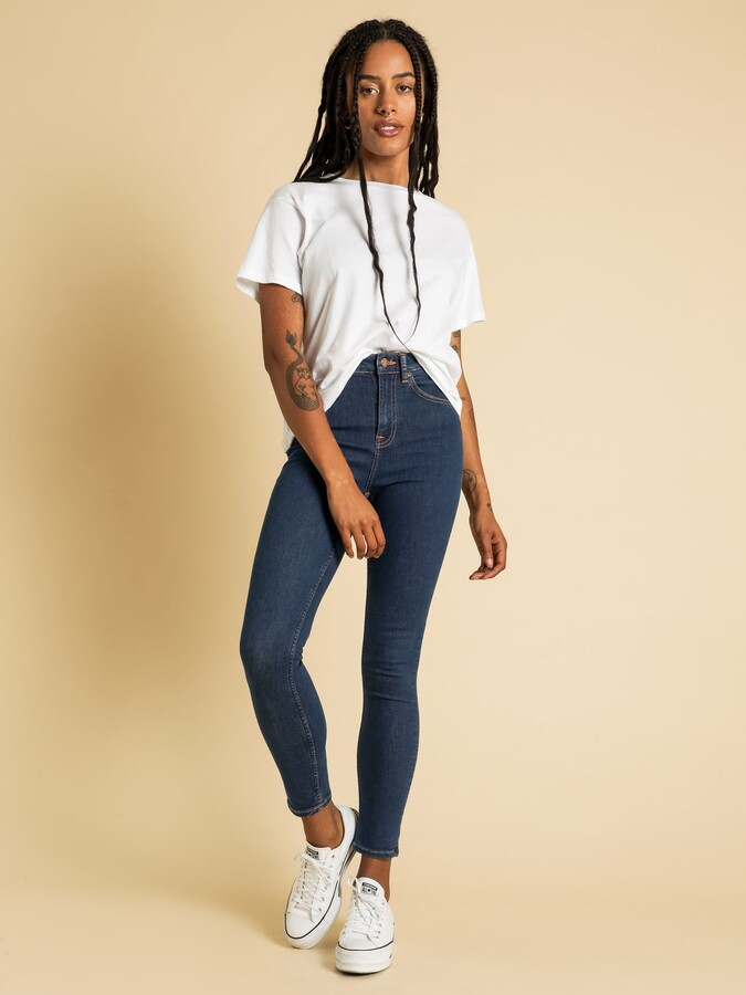Thumbnail for your product : Nudie Jeans Hightop Tilde Skinny Jeans in Light Navy