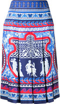 Mary Katrantzou Gheia twill pleated skirt