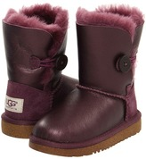 UGG Bailey Button Metallic (Toddler/Little Kid) (Rum Raisin) - Footwear