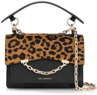 Karl Lagerfeld Paris Seven leopard-print shoulder bag
