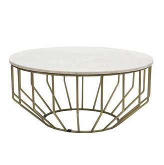 Everly Quinn Singletary Marble Round Coffee Table Quinn