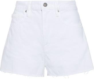 Frame Le Bridgette Frayed Denim Shorts
