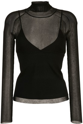Proenza Schouler Matte Turtleneck Long Sleeve Top