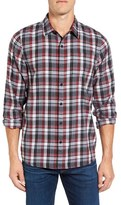 Travis Mathew Men's Plaid Flannel Sport Shirt