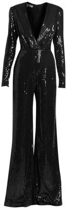 Elie Saab Big Sequence V-Neck Sequin Jumpsuit