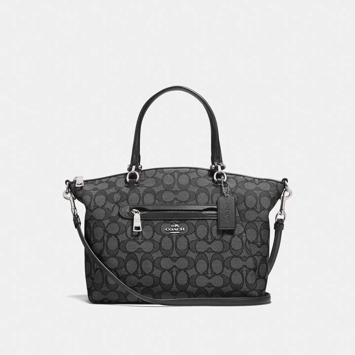 Coach Prairie Satchel In Signature Jacquard