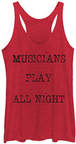 Chin Up Apparel Women's Tank Tops RED - Heather Red 'Musicians Play All Night' Racerback Tank - Women