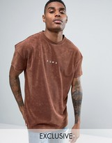 Puma Towelling T-shirt In Brown Exclusive To Asos 57533302