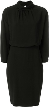 Boutique Moschino Fitted Gathered Collar Dress