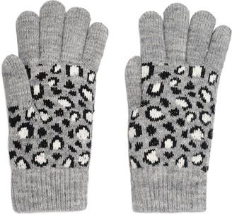 Women's Igloo Leopard Print Knit Glove