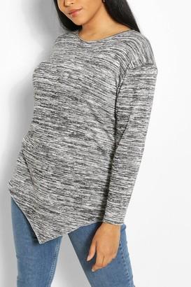 boohoo Plus Longsleeve Asymmetric Tunic Top