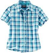 Osh Kosh Woven Buttonfront Shirt - Plaid - 5T