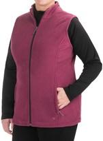 White Sierra Mountain Fleece Vest (For Plus Size Women)