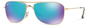 Ray-Ban Unisex Polarized Aviator Sunglasses, 59mm
