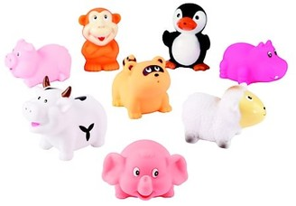 Elegant Baby Eight-Piece Animal Squirties Bath Toy Set