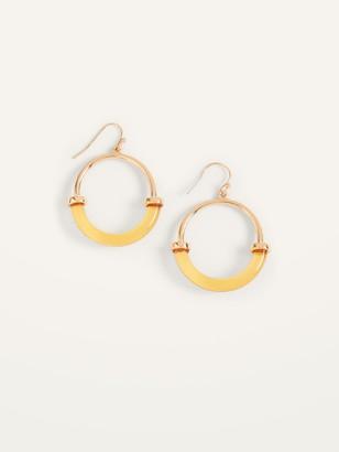Old Navy Gold-Toned Resin Hoop Earrings for Women