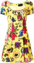 Philipp Plein floral print mini dress