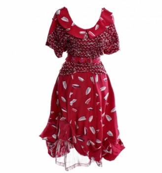 Louis Vuitton Red Silk Dresses