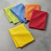 Crate & Barrel Salsa Solid Dish Towels, Set of 5