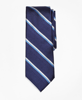 Brooks Brothers Textured Double Stripe Silk Tie