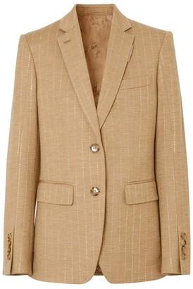 Burberry Link Detail Wool-Cashmere Blazer
