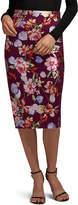 5Twelve Foil-Print Stretch Midi Skirt