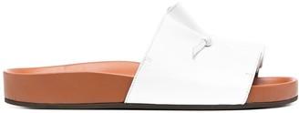 L'Autre Chose Pinched Leather Slides