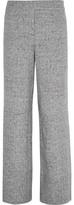 Theory Talbert Cotton-Blend Felt Wide-Leg Pants