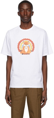MAISON KITSUNÉ White Flower Fox T-Shirt