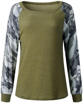 Goodnight Macaroon 'Juliana' Camouflage Waffle Knit Sweater (3 Colors)