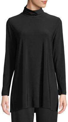 Caroline Rose Petite Long-Sleeve Knit Turtleneck