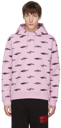 McQ Pink All Over Racing Cars Clean Hoodie