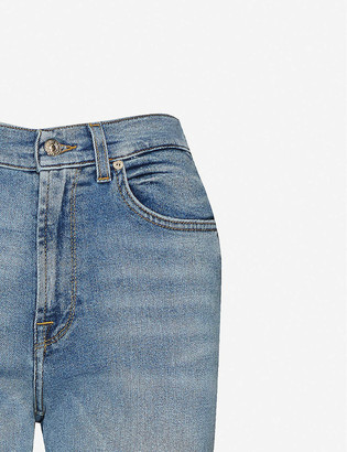 7 For All Mankind Malia Luxe straight high-rise jeans