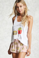Forever 21 FOREVER 21+ Burger Fries Graphic PJ Set