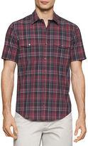 Calvin Klein Plaid Printed Cotton Shirt