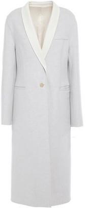 Joseph Two-tone Melange Wool-felt Coat
